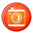 Vintage photo camera icon flat style vector image vector image