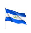 waving flag of nicaragua vector image vector image