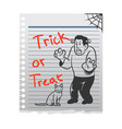 frankenstein doddle character on paper vector image