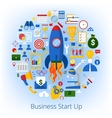 Business Start Up Concept with Set of Icons vector image