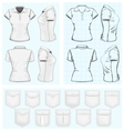 Womens polo-shirt design templates vector image