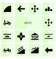 14 move icons vector image vector image