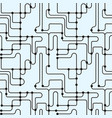 abstract monochrome seamless pattern subway map vector image vector image