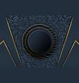 abstract polygonal luxury dark blue background vector image vector image
