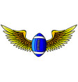 american football and wing vector image vector image