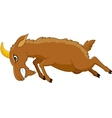 angry goat cartoon vector image