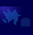 azerbaijan map country abstract silhouette from vector image vector image
