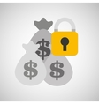 bags money bank safety lock vector image vector image