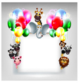 balloons decoration for you design and animal cart vector image vector image