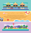 Beach summer landscape vector image