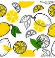 beautiful yellow black and white seamless doodle vector image vector image