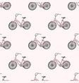 bicycle school seamless pattern vector image vector image