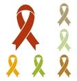 Black awareness ribbon sign vector image vector image