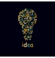 Bulb light idea concept of big ideas inspiration vector image vector image