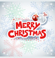 christmas background with text and baubles vector image vector image
