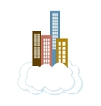city buildings on a cloud vector image vector image