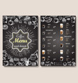 coffee menu template front and back sides vector image