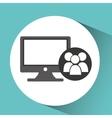 computer network desktop group vector image vector image
