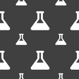 Conical Flask icon sign Seamless pattern on a gray vector image vector image