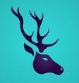 Deer logo vector image vector image