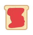 delicious bread with jam isolated icon design vector image vector image