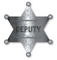 deputy badge vector image