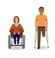 disability people concept invalid woman in vector image