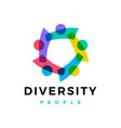 diversity people family team work logo icon vector image vector image