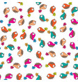 doodle birds seamless pattern vector image vector image