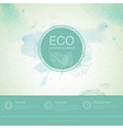 Ecology background vector image