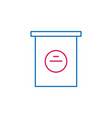 elections poll box outline colored icon can be vector image vector image