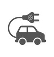 electro car icon on white background flat vector image vector image