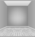 empty room with laminate floor vector image