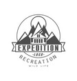 expedition logo design recreation badge vintage vector image vector image