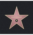 Fame star with place for nameTop view vector image vector image