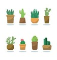 fashionable cactus vector image