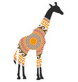 giraffe ornament decoration vector image