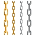 Gold and Silver Chains vector image vector image