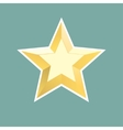 gold relief star icon Stock vector image vector image