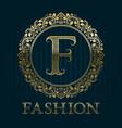 Golden logo template for fashion boutique