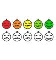 Halloween Pumpkin color Emoji icons vector image vector image