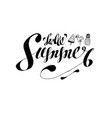 hand-drawn lettering composition phrase hello vector image