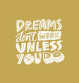 handdrawn motivational quote vector image vector image