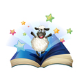 Happy Sheep Book vector image vector image