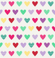 hearts pattern hearts-with dots and stripes vector image