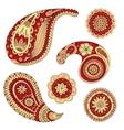 Henna Paisley Mehndi Design Element vector image vector image