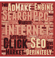 JP PPC and SEO 1 text background wordcloud concept vector image vector image