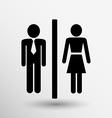 Man woman restroom sign icon button logo symbol