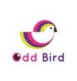 modern minimalistic bird logo Creative vector image vector image
