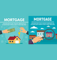 mortgage banner set flat style vector image
